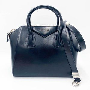 Givenchy Shiny Lord Calfskin Small Antigona Black
